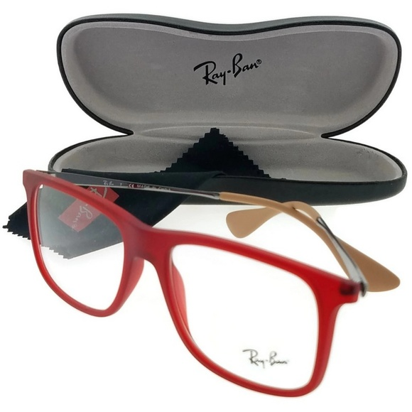 9b53577382 RX7054-5525-53 Men s Red Frame Eyeglasses